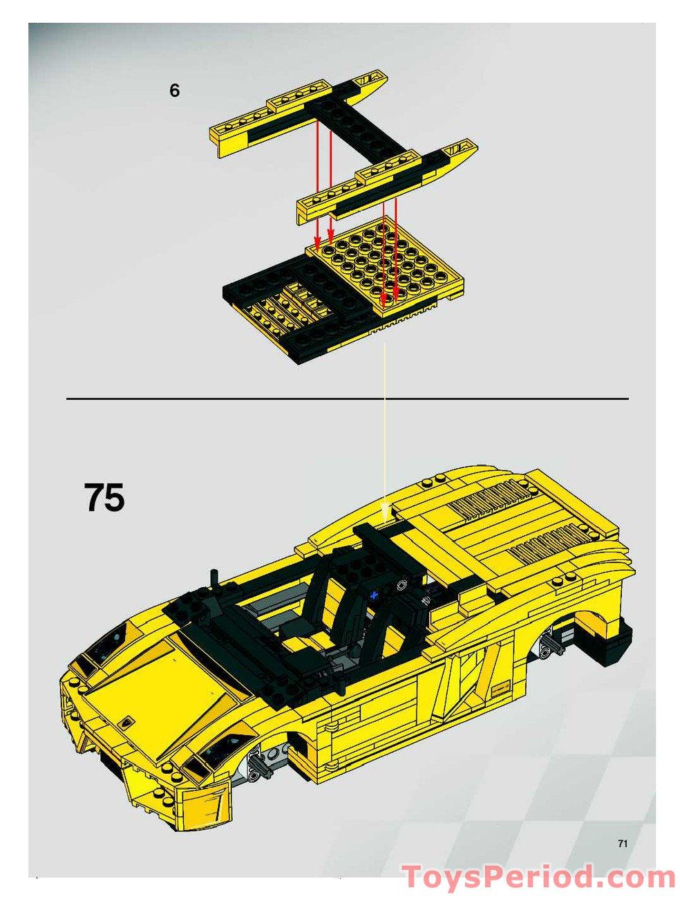 lego mini lamborghini instructions
