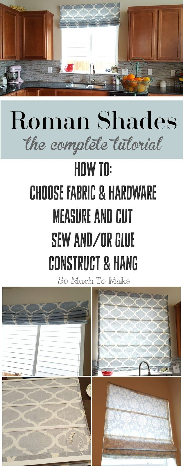 roman blind instructions pictures