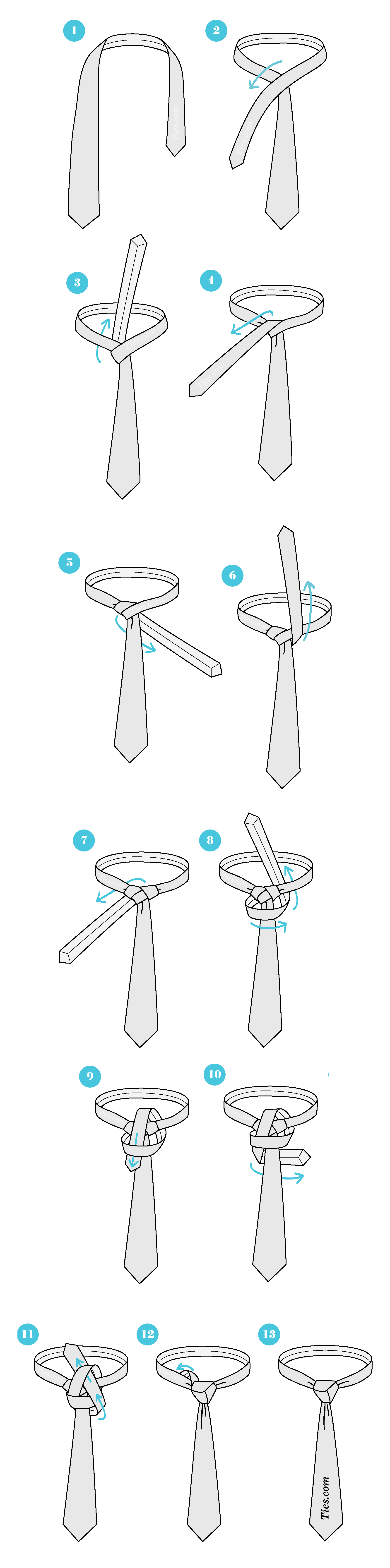 instructions on how to tie a tie