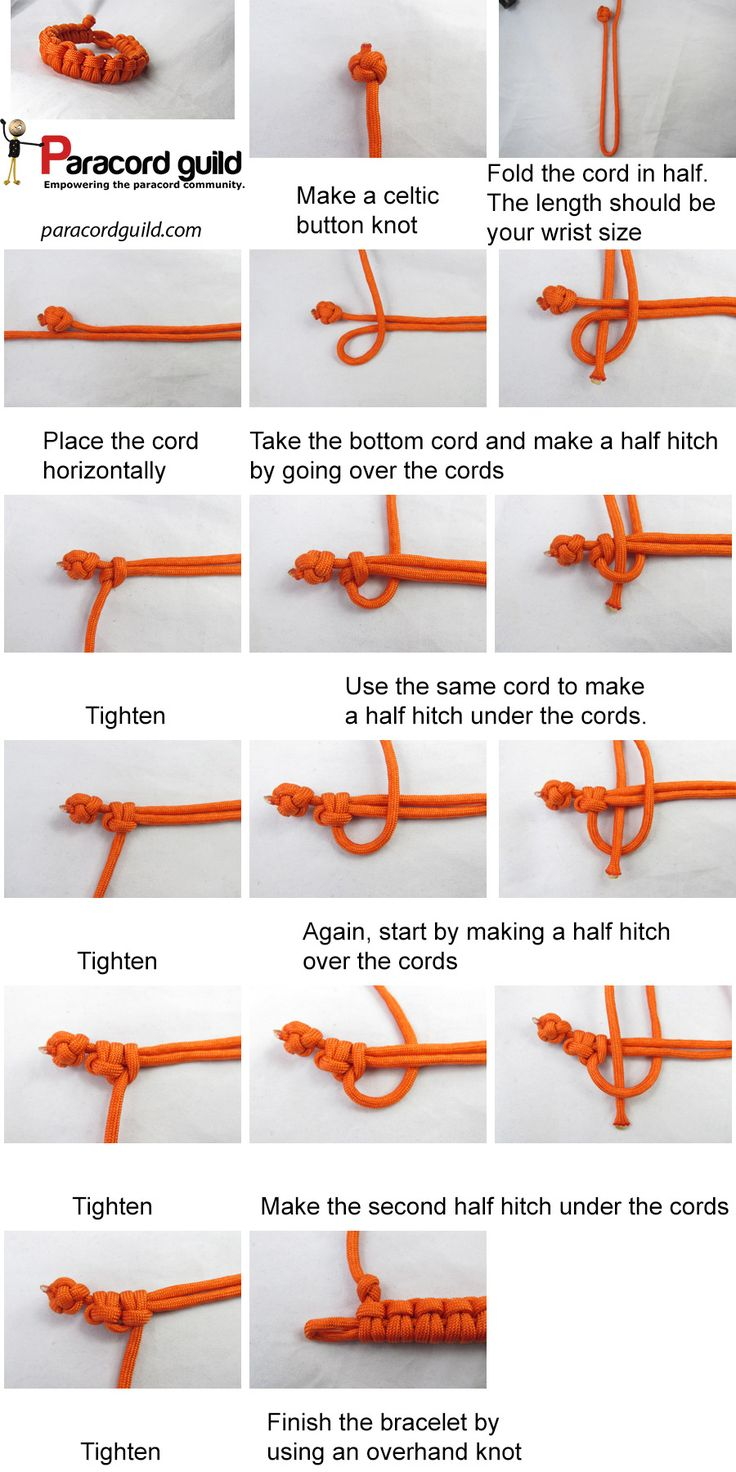 paracord survival bracelet instructions