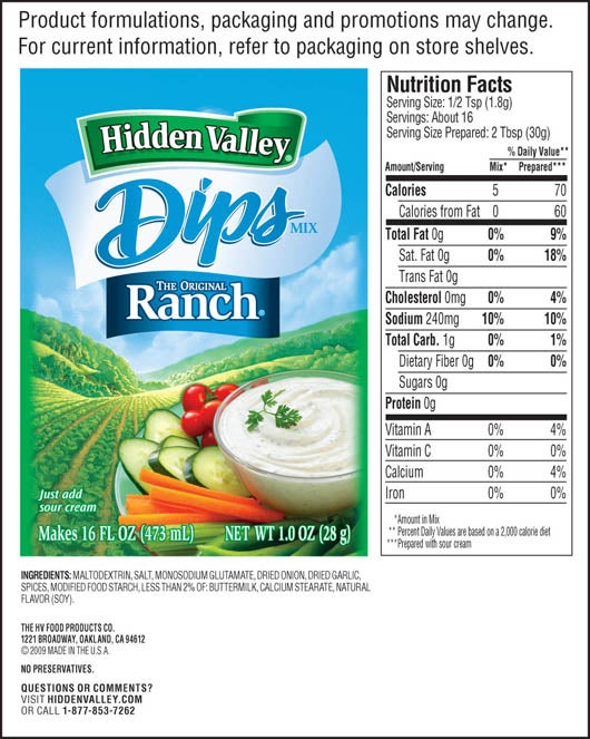 hidden valley ranch dip instructions