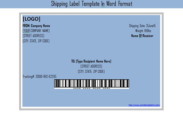 shipping instruction format word