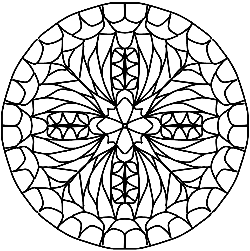 instructions to draw a mandala