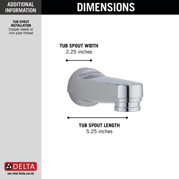 delta tub spout installation instructions
