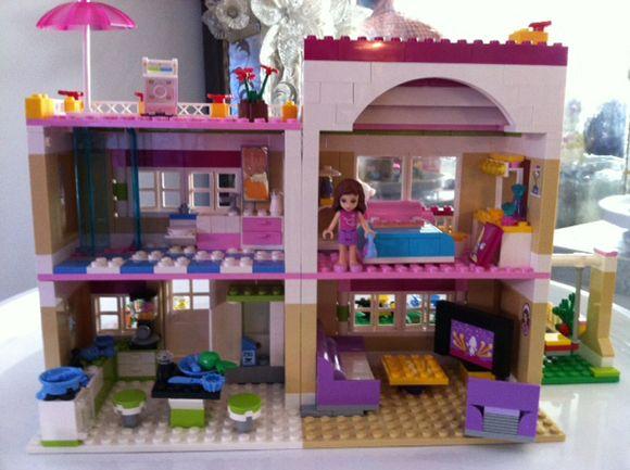 barbie lego house instructions