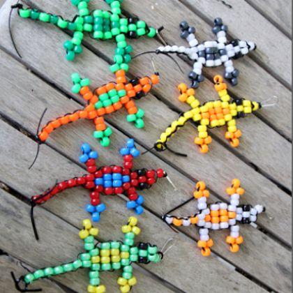 beaded lizard craft instructions