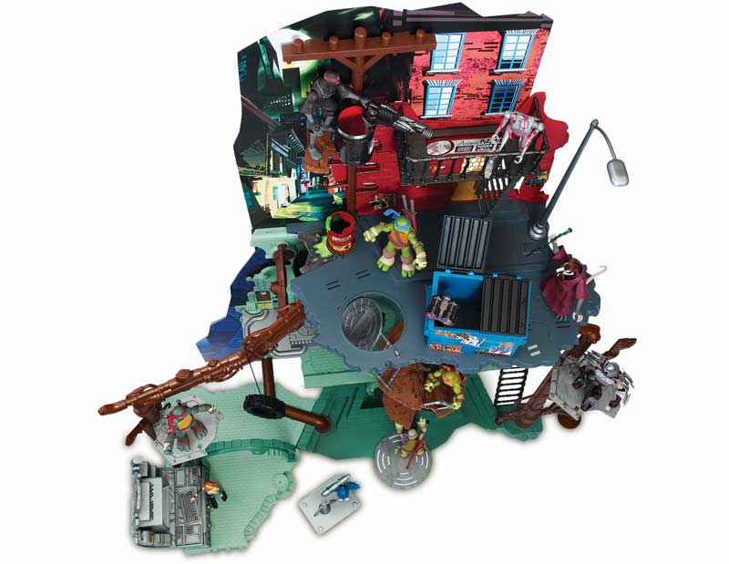 tmnt sewer lair playset instructions