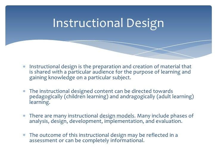 purpose of instructional design