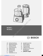 bosch mcm4100gb food processor instructions