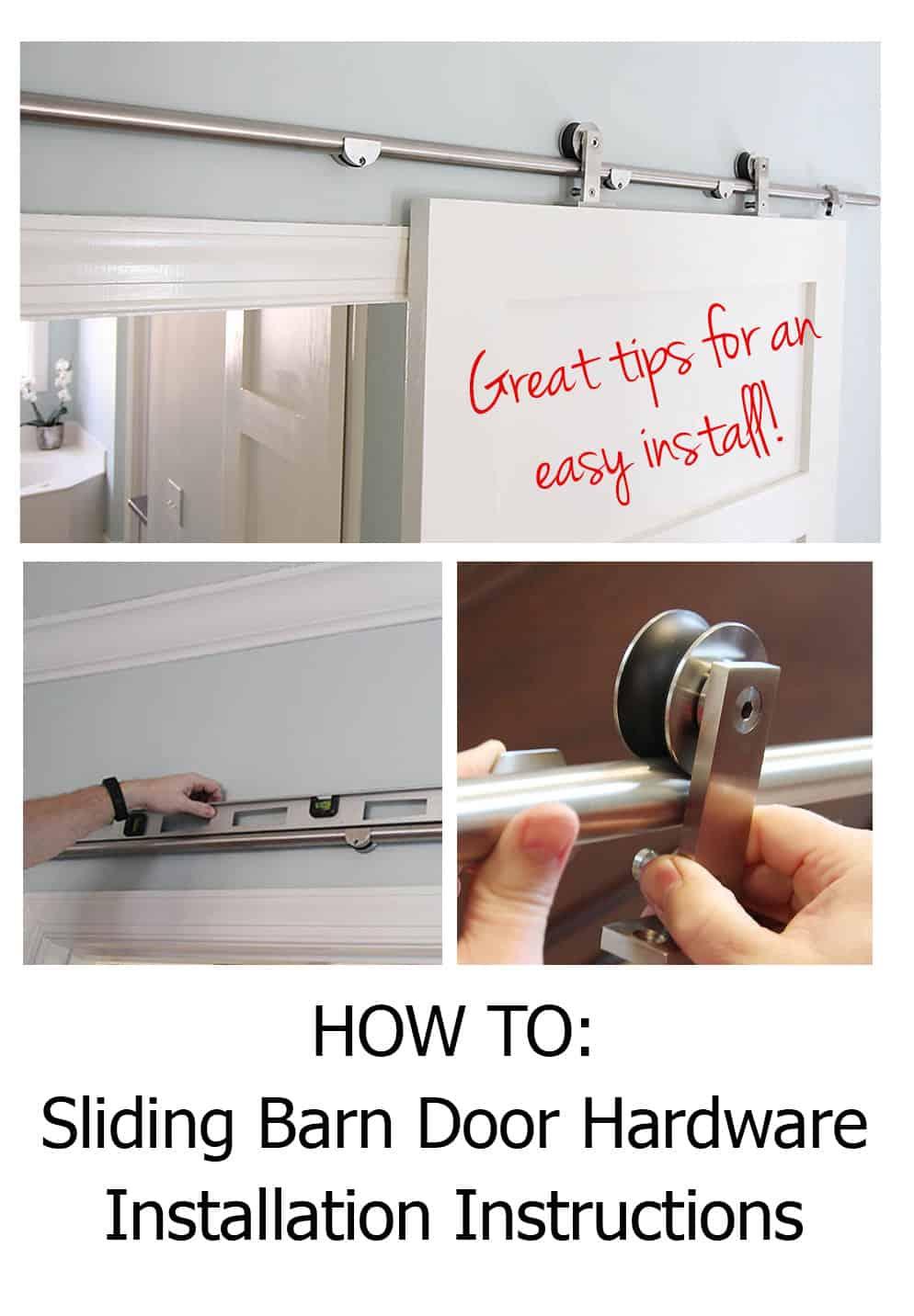 barn door installation instructions