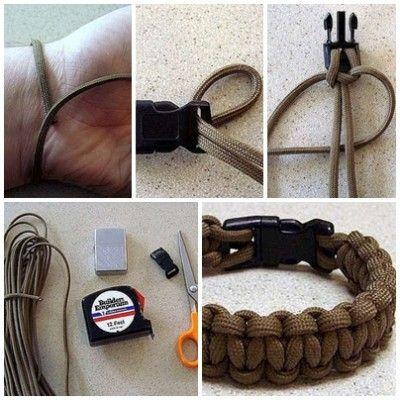 step by step paracord bracelet instructions