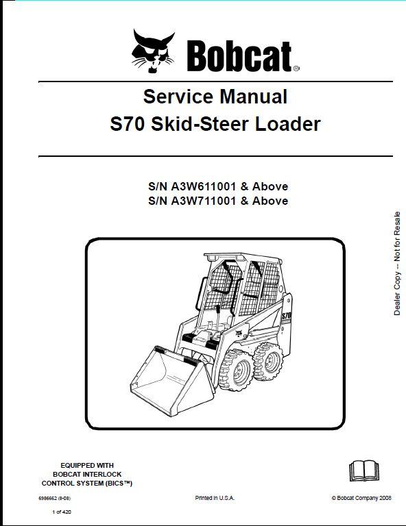 bobcat s70 operating instructions