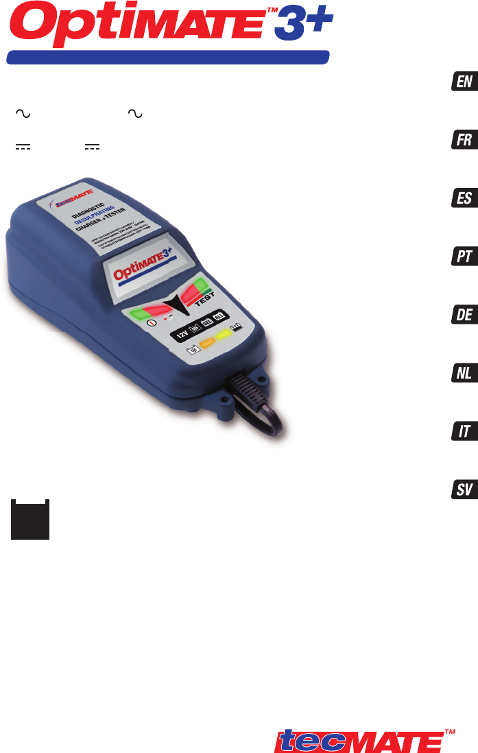 optimate 3 battery charger instructions