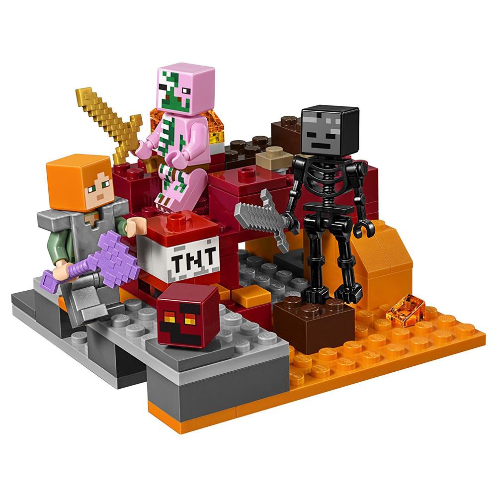 lego minecraft nether railway instructions