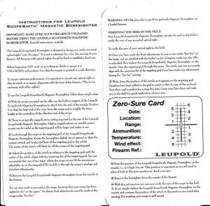 leupold scopesmith magnetic boresighter instructions