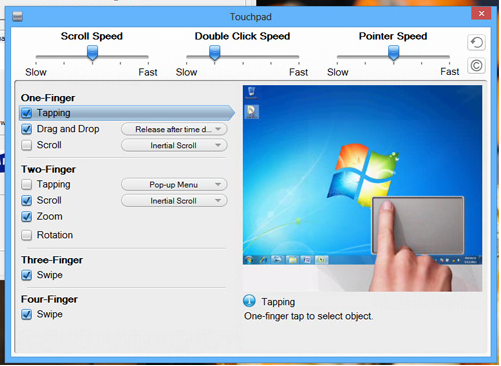 gateway multi gesture touchpad instructions