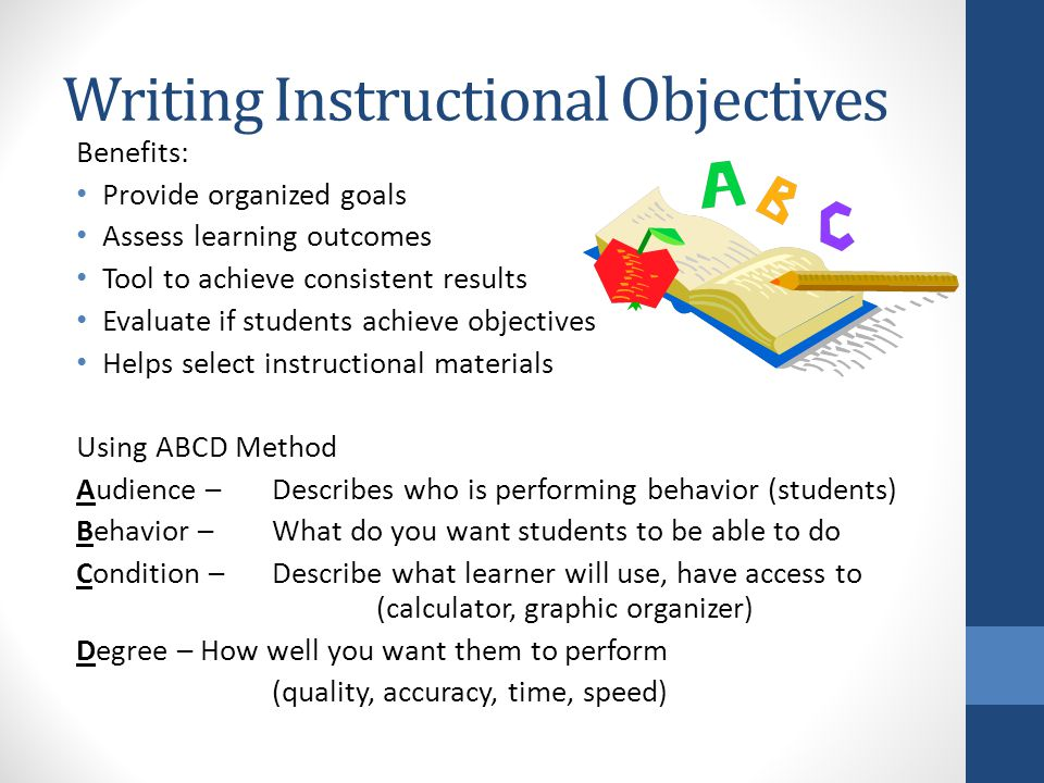 importance of instructional objectives in teaching