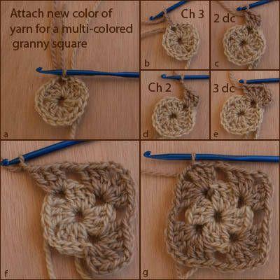 beginner granny square instructions