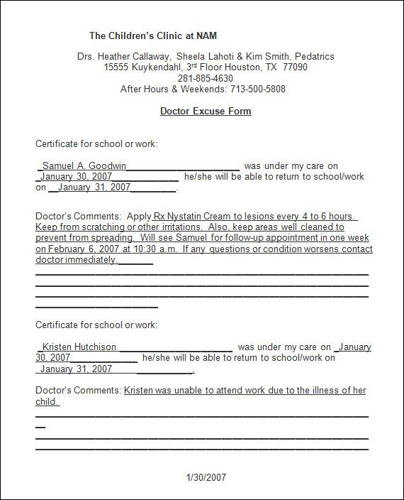 care notes discharge instructions