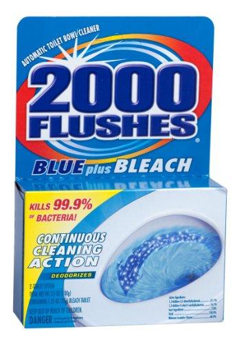 2000 flushes blue plus bleach instructions