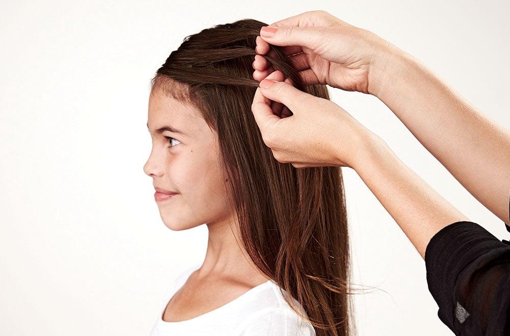 french braid short hair instructions