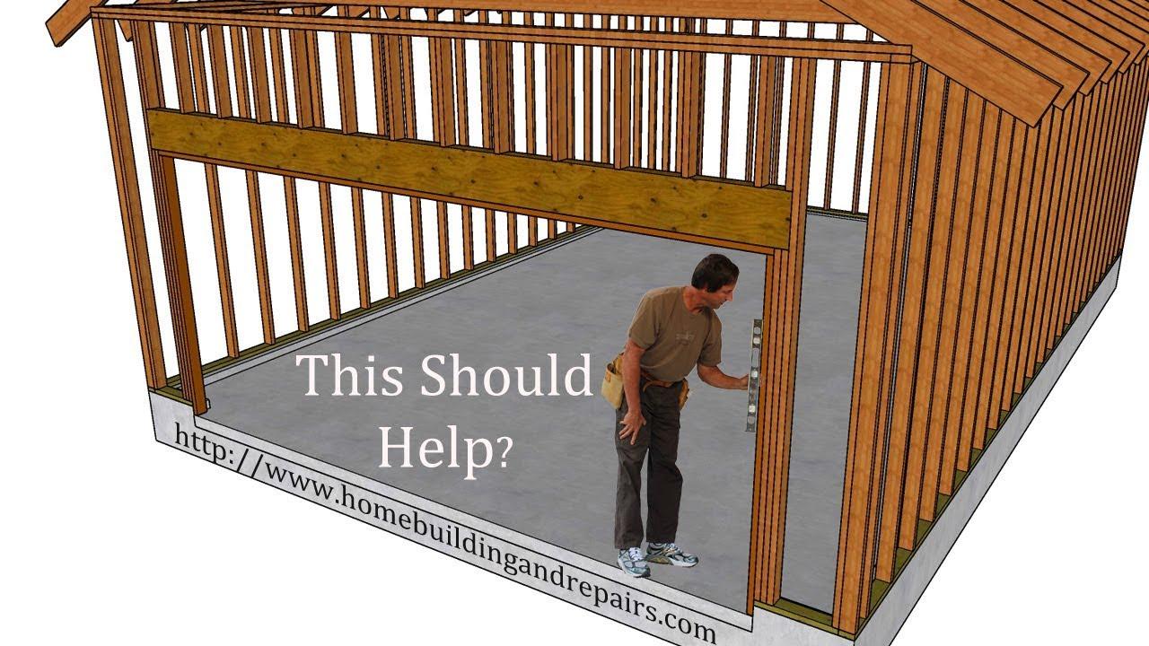 garage door framing instructions