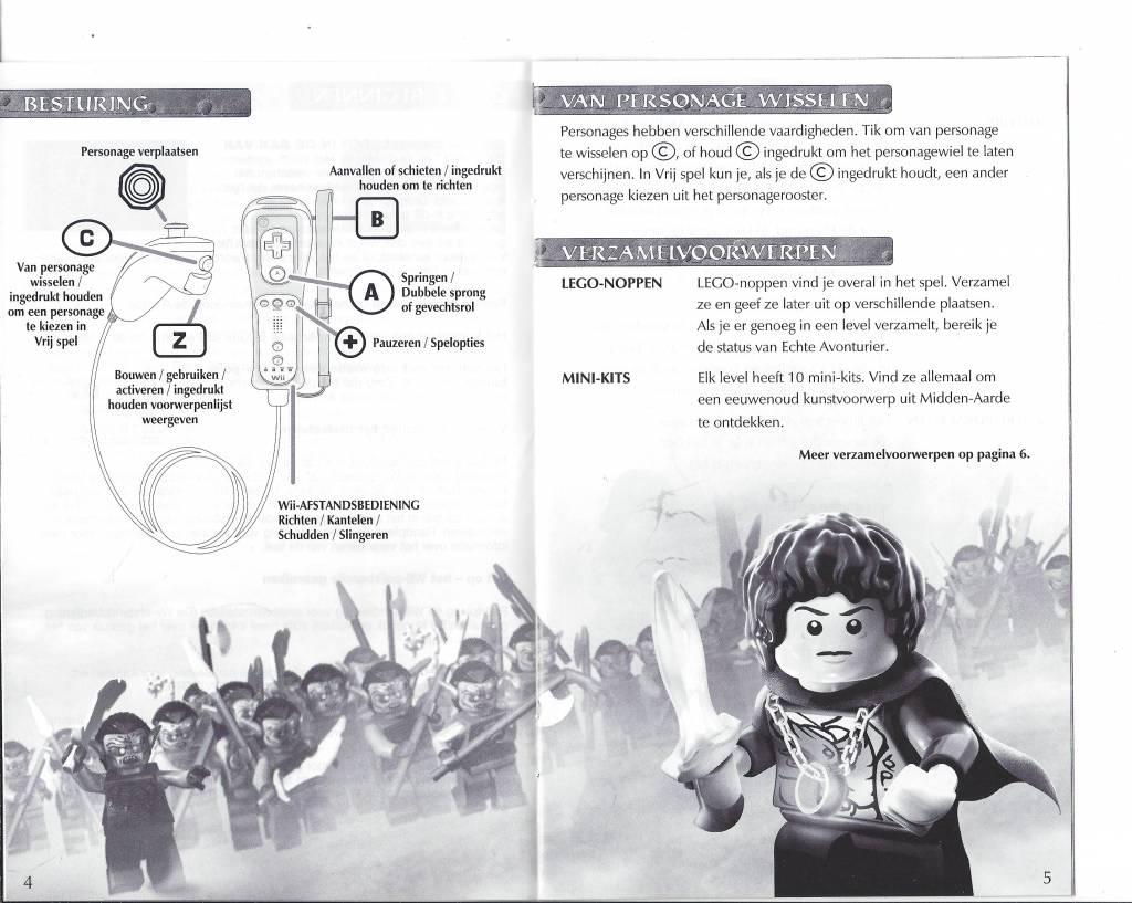 lego lord of the rings wii instructions