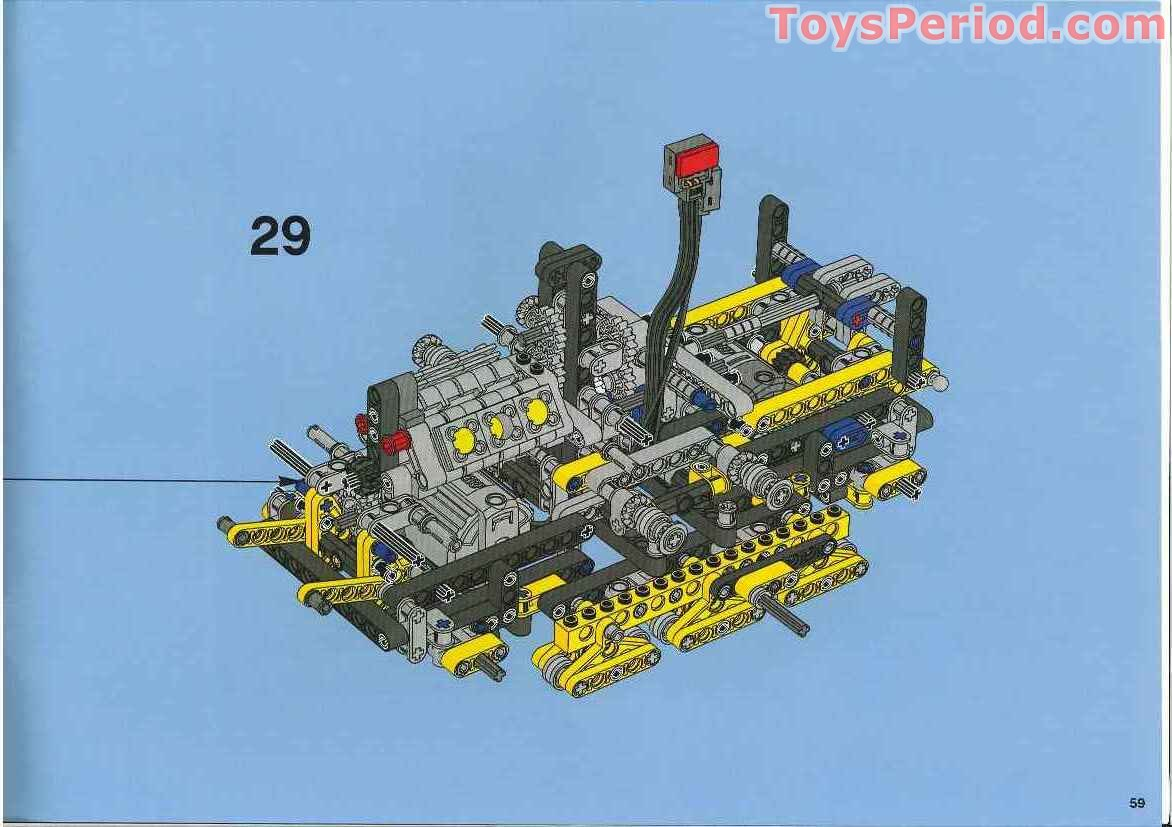 lego technic bulldozer instructions