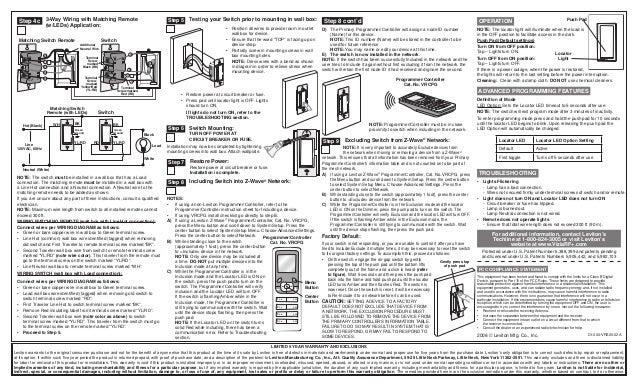 leviton pr180 wiring instructions