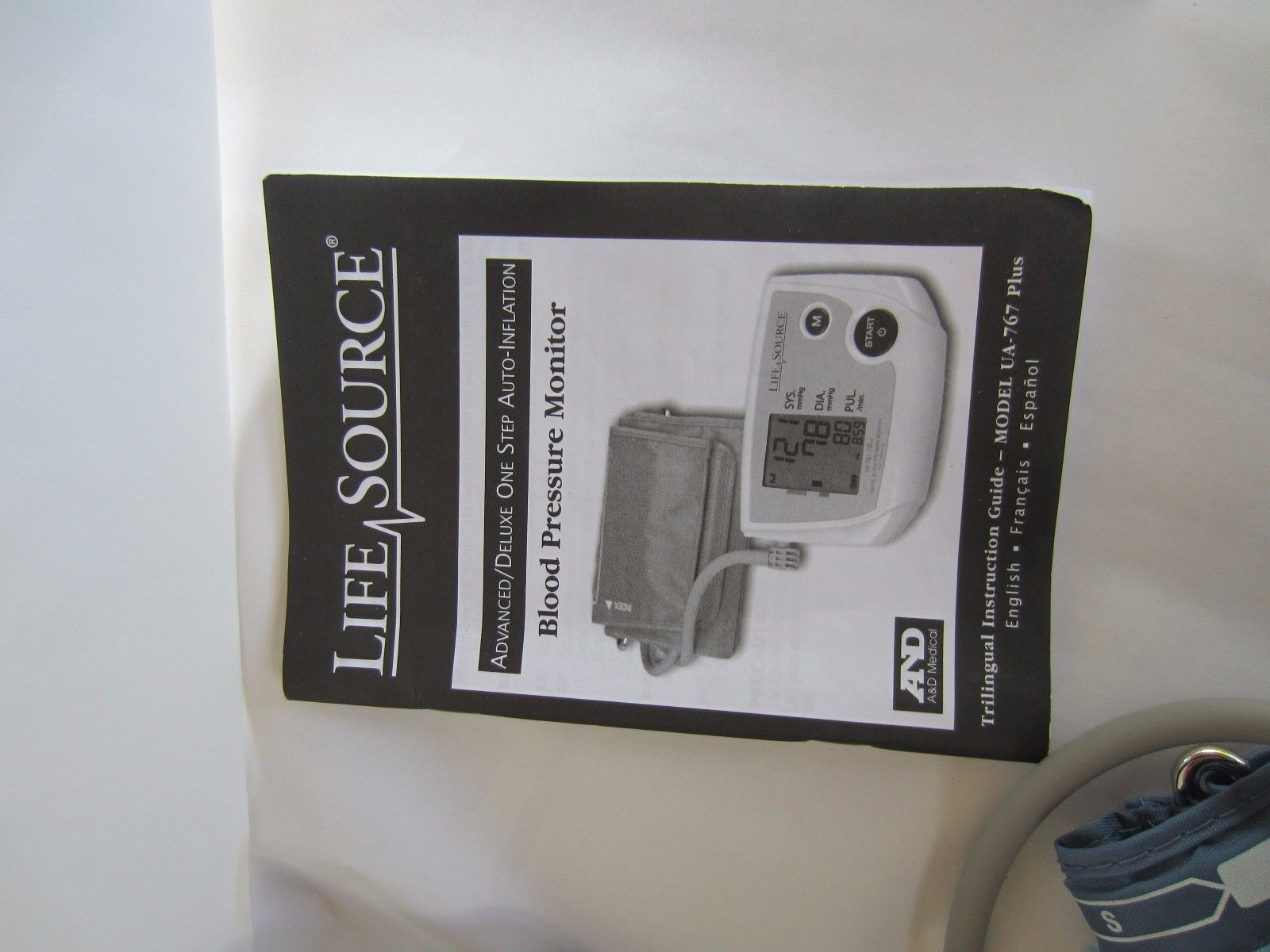 lifesource ua 767 plus instruction manual