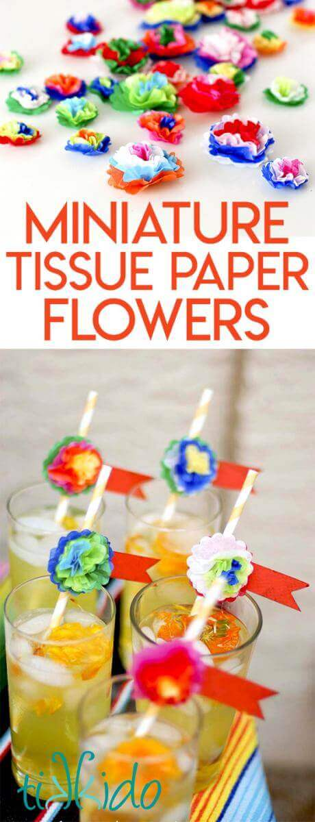 mexican tissue paper flower instructions