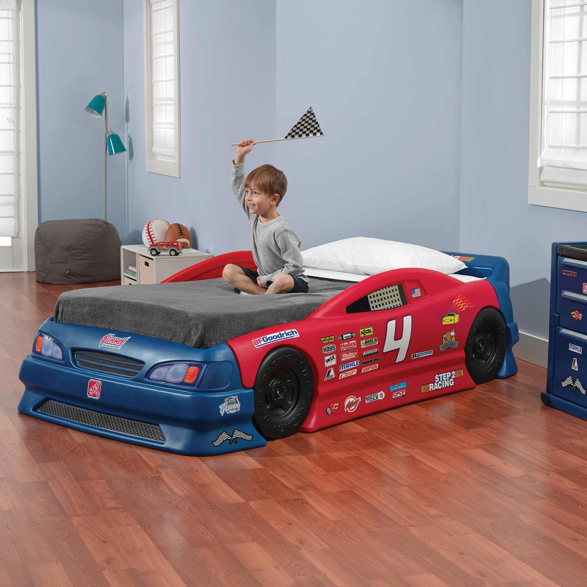step 2 race car bed assembly instructions