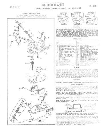 tillotson carb rebuild instructions
